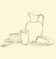 still life of healthy breakfast vector image