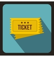 Circus show tickets icon flat style vector image