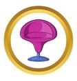 Round armchair icon cartoon style vector image