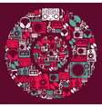 Dj Music icons disc vector image vector image
