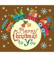 Christmas train vector image vector image