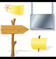 board arrow indicator message vector image