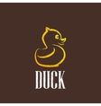 vintage with a rubber duck icon vector image
