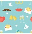 Flat Wedding Pattern vector image