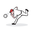 American Baseball Player Pitcher vector image vector image