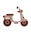 retro scooter isolated icon design vector image