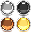 Colorful glossy buttons-set3 vector image