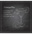 Cosmopolitan on black board vector image