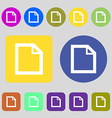 Edit document sign icon content button 12 colored vector image
