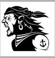 furious pirate - screaming sailor vector image
