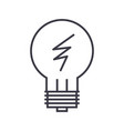 idea lamp line icon sign o vector image