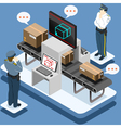 Isometric Infographic Security Check vector image