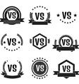 versus logos set vector image vector image
