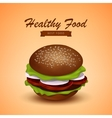 Tasty Juicy Burger Fastfood vector image