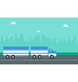 flat of container truck landscape vector image