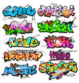 Graffiti wall urban art vector image