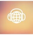 World music thin line icon vector image