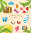 Summer Vacation Time vector image
