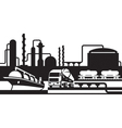 Processing and transportation of oil and gas vector image
