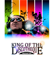 king of the discotheque vector image