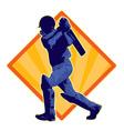 cricket batsman batting vector image vector image