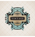 Vintage Decorative Frame for text Elements vector image