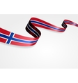 Norwegian flag background vector image