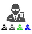 chemical scientist flat icon vector image