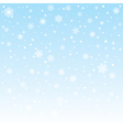 Christmas frozen background with snowflakes vector image