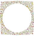 Doodles Greeting card template hand drawn vector image