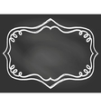 Frame on chalk borard vector image