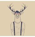 Modern deer hipster like a human vector image