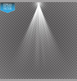 spotlights scene light effects magic vector image
