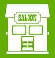 western saloon icon green vector image