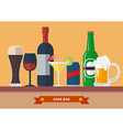 Set of drink bar flat icon vector image