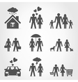 Icons a family6 vector image vector image