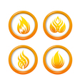 Fire web buttons set vector image