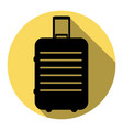 baggage sign   flat black icon vector image