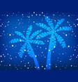 palms and stars night background vector image