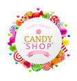 candy poster vector image vector image