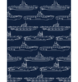 seamless pattern with submarines vector image