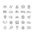 Transportation Outline Icon Set vector image