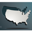 America paper map jigsaw vector image
