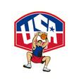 Basketball Player Dunking Ball USA vector image