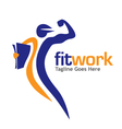 fit work sport media vector image
