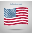 Hand Drawn United States of America Flag vector image