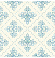 Seamless floral pattern geometric flowers vector image