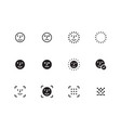 face biometrics icons on white background vector image vector image