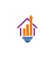 house construction arrow logo vector image vector image
