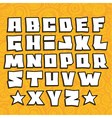 graffiti fonts alphabet with shadow on orange vector image